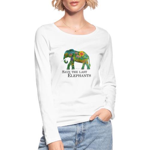 Save The Last Elephants - Frauen Bio-Langarmshirt von Stanley & Stella