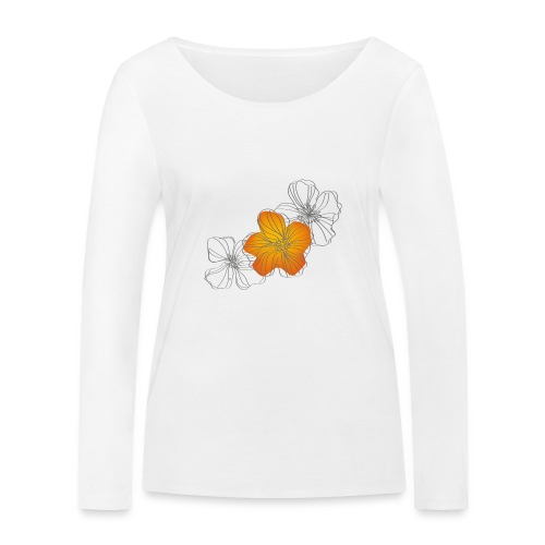 Flowers - Camiseta de manga larga ecológica mujer de Stanley & Stella