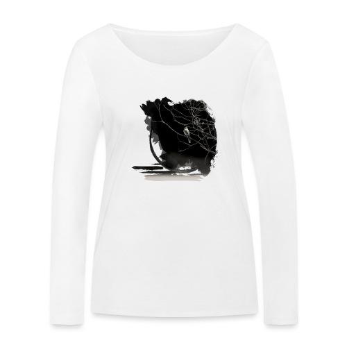 bird in zen circle above water bird on branch Zen - Women's Organic Longsleeve Shirt by Stanley & Stella