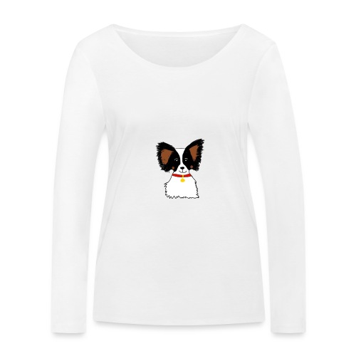 Papillon dog - Women's Organic Longsleeve Shirt by Stanley & Stella