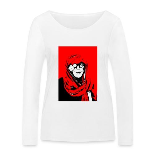 L'homme rouge représente la terre rouge d'Afrique. - T-shirt manches longues bio Stanley & Stella Femme