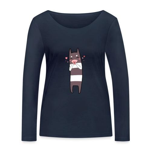 Donut Monster - Women's Organic Longsleeve Shirt by Stanley & Stella