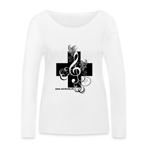 Swiss Beatz Logo non L - Frauen Bio-Langarmshirt von Stanley & Stella