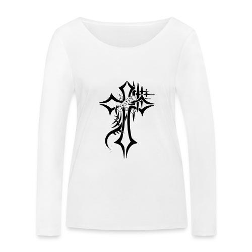 cross - Økologisk langermet T-skjorte for kvinner fra Stanley & Stella