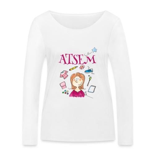 007 ATSEM - T-shirt manches longues bio Stanley & Stella Femme