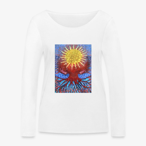 Niebiańskie Drzewo - Ekologiczna koszulka damska z długim rękawem Stanley & Stella