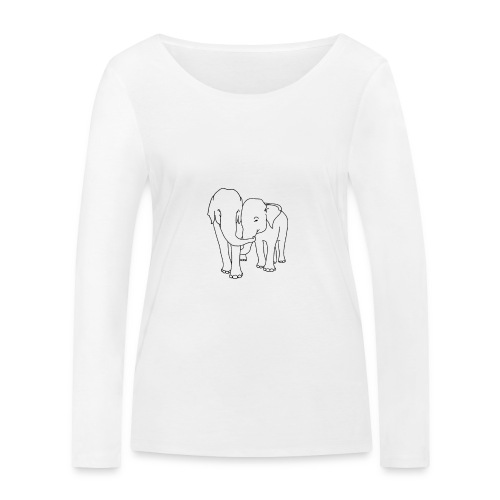 Olifanten - Vrouwen bio shirt met lange mouwen van Stanley & Stella
