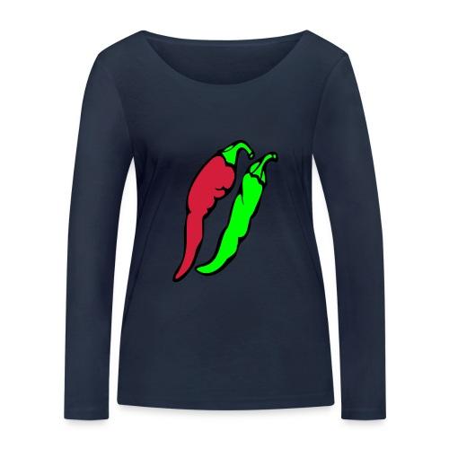 Chilli - Ekologiczna koszulka damska z długim rękawem Stanley & Stella