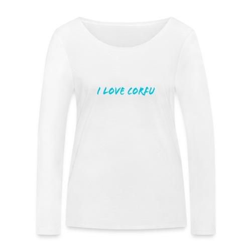 I Love Corfu Griechenland - Frauen Bio-Langarmshirt von Stanley & Stella