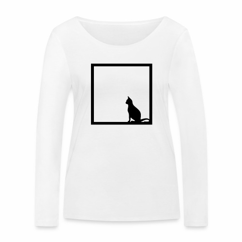Chat noir / Black cat - Women's Organic Longsleeve Shirt by Stanley & Stella