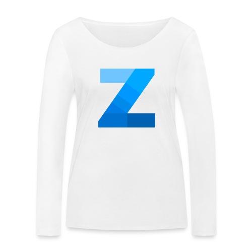 ZettaOS Blue Contrast - Vrouwen bio shirt met lange mouwen van Stanley & Stella