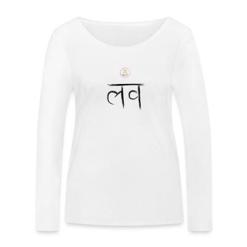 LOve SansKrit Black - T-shirt manches longues bio Stanley & Stella Femme