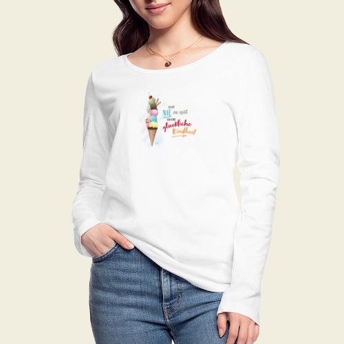 Eis - glückliche Kindheit - Frauen Bio-Langarmshirt von Stanley & Stella