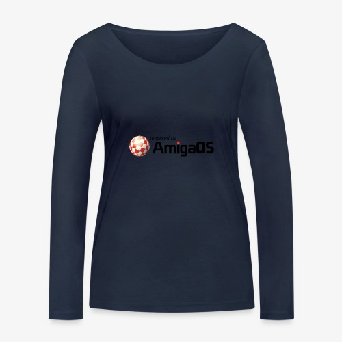 PoweredByAmigaOS Black - Women's Organic Longsleeve Shirt by Stanley & Stella