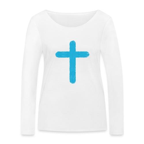 Blue cross - Camiseta de manga larga ecológica mujer de Stanley & Stella