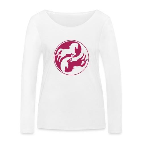 Vorschau: Horse Ying Yang - Frauen Bio-Langarmshirt von Stanley & Stella