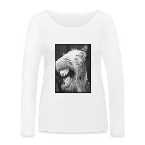 lachender Esel - Frauen Bio-Langarmshirt von Stanley & Stella