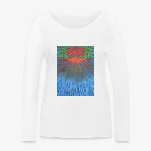Drzewo Źycia - Ekologiczna koszulka damska z długim rękawem Stanley & Stella