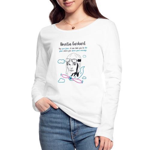 Amelia Earhart - Women's Organic Longsleeve Shirt by Stanley & Stella