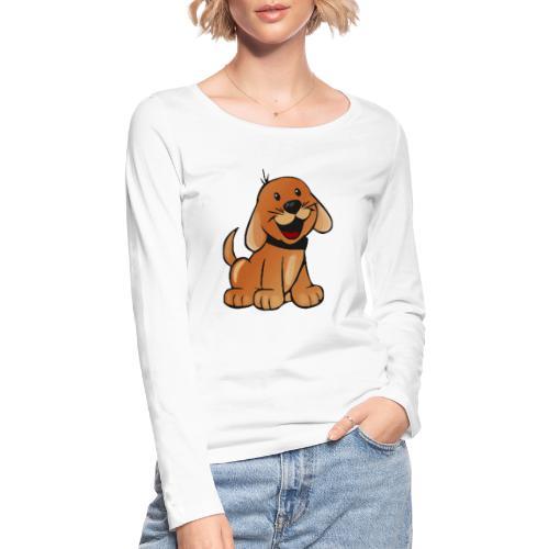 cartoon dog - Maglietta a manica lunga ecologica da donna di Stanley & Stella