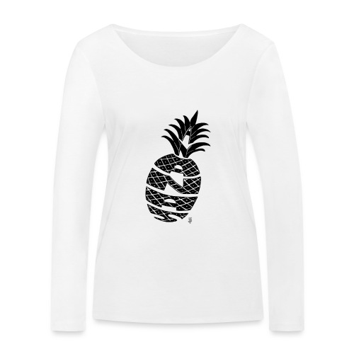 ananas calligramme - T-shirt manches longues bio Stanley & Stella Femme