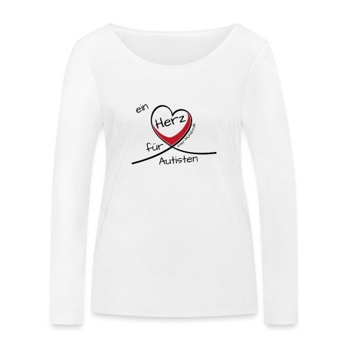 Ein Herz für Autisten - Frauen Bio-Langarmshirt von Stanley & Stella