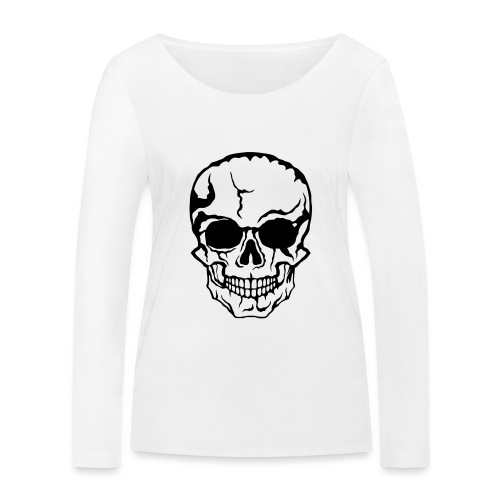 tete de mort halloween horreur dessin 21 - T-shirt manches longues bio Stanley & Stella Femme