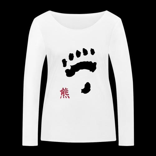 tatze_kuma + Kanji - Frauen Bio-Langarmshirt von Stanley & Stella