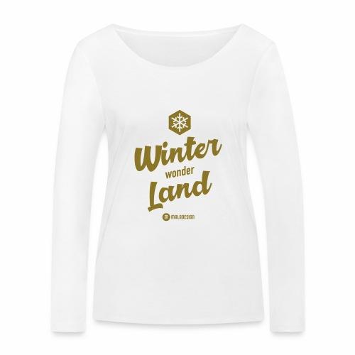 Winter Wonder Land - Stanley & Stellan naisten pitkähihainen luomupaita