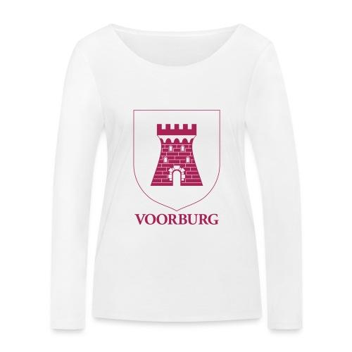 Voorburg wapen lijn - Vrouwen bio shirt met lange mouwen van Stanley & Stella