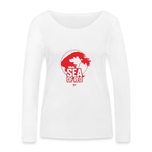 Sea of red logo - red - Women's Organic Longsleeve Shirt by Stanley & Stella