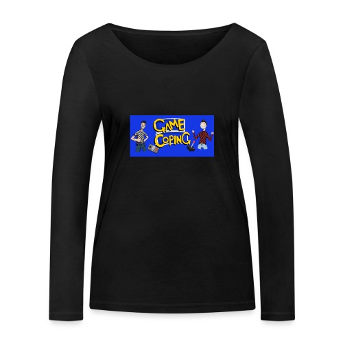 Game Coping Happy Banner - Women's Organic Longsleeve Shirt by Stanley & Stella