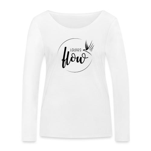 Ladies Flow LO Logo Black - Frauen Bio-Langarmshirt von Stanley & Stella