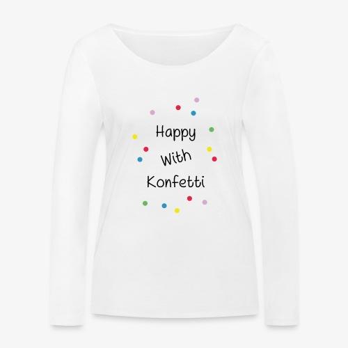 Happy With Konfetti - Frauen Bio-Langarmshirt von Stanley & Stella
