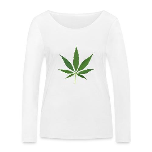 2000px-Cannabis_leaf_2 - Økologisk Stanley & Stella langærmet T-shirt til damer