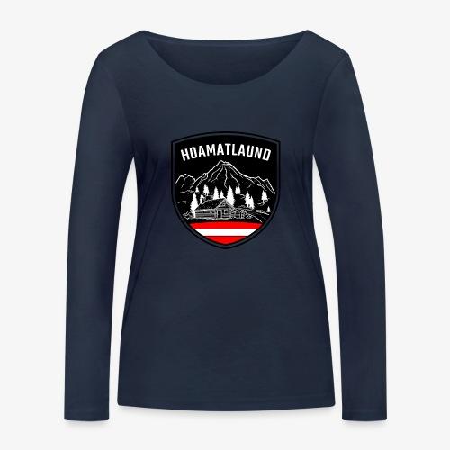Hoamatlaund logo - Frauen Bio-Langarmshirt von Stanley & Stella