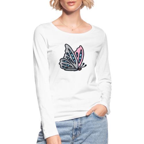 Fjäril - Ekologisk långärmad T-shirt dam från Stanley & Stella