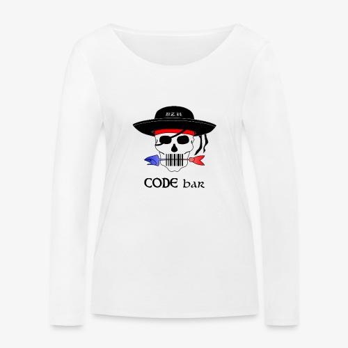 Code Bar couleur - T-shirt manches longues bio Stanley & Stella Femme