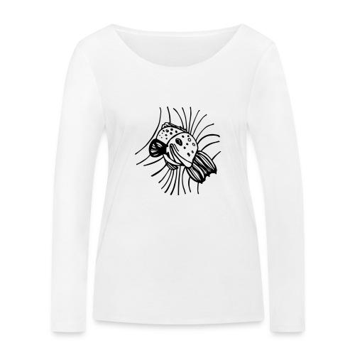 pesce1 - Maglietta a manica lunga ecologica da donna di Stanley & Stella