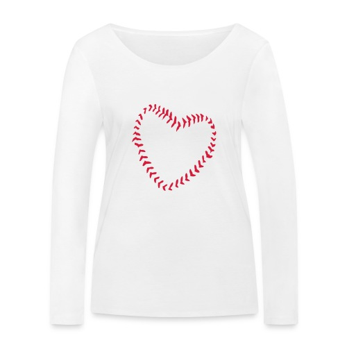 2581172 1029128891 Baseball Heart Of Seams - Women's Organic Longsleeve Shirt by Stanley & Stella