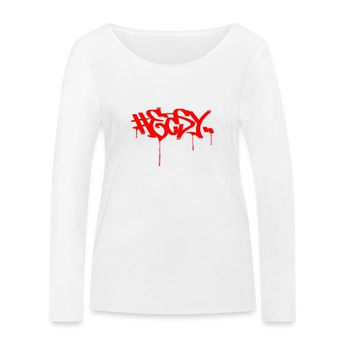 #EASY Graffiti Logo T-Shirt - Maglietta a manica lunga ecologica da donna di Stanley & Stella