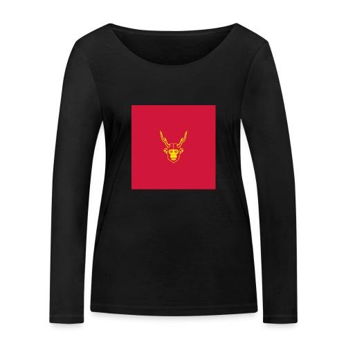 scimmiacervo sfondo rosso - Maglietta a manica lunga ecologica da donna di Stanley & Stella