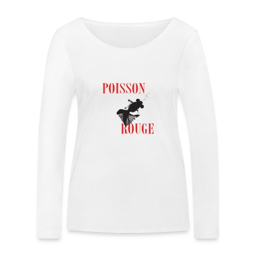 poisson rouge - T-shirt manches longues bio Stanley & Stella Femme