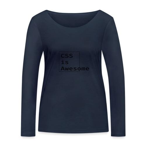 cssawesome - black - Vrouwen bio shirt met lange mouwen van Stanley & Stella