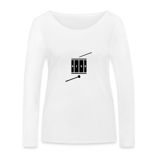 Nerd_Logo Black - Økologisk Stanley & Stella langærmet T-shirt til damer