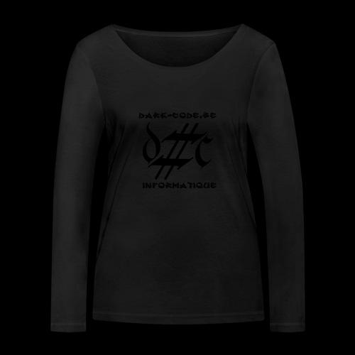 Dark-Code Black Gothic Logo - T-shirt manches longues bio Stanley & Stella Femme