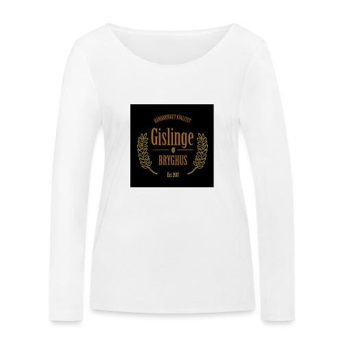 Sort logo 2017 - Økologisk Stanley & Stella langærmet T-shirt til damer