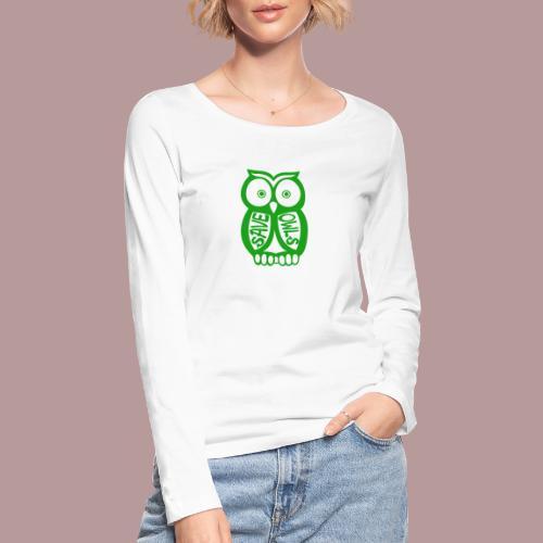 Save owls - T-shirt manches longues bio Stanley & Stella Femme