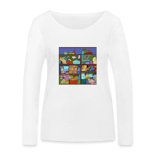 Katte - Økologisk Stanley & Stella langærmet T-shirt til damer