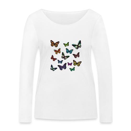 Butterflies flying - Ekologisk långärmad T-shirt dam från Stanley & Stella